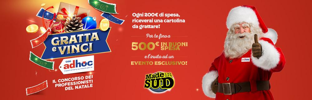 Partecipa al concorso di Natale Gratta e vinci con Adhoc